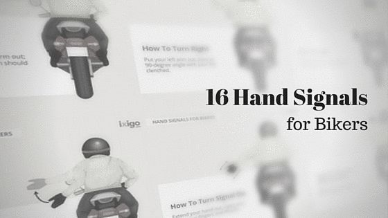 16 Motorcycle Hand Signals