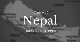 Chapter 16 – Nepal (May – June 1998)