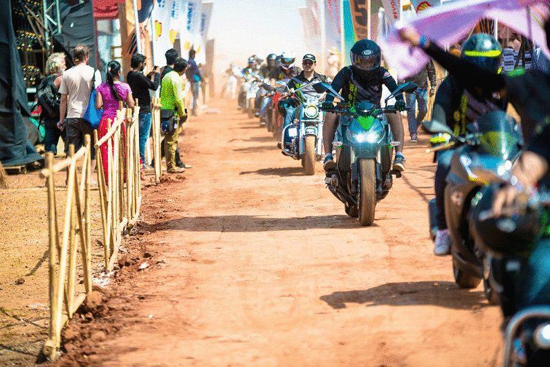 India Bike Week 2016 (IBW 2016) riders parade
