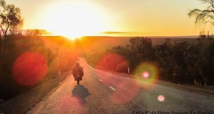 Let's Ride from Sydney to Paris - Sunset