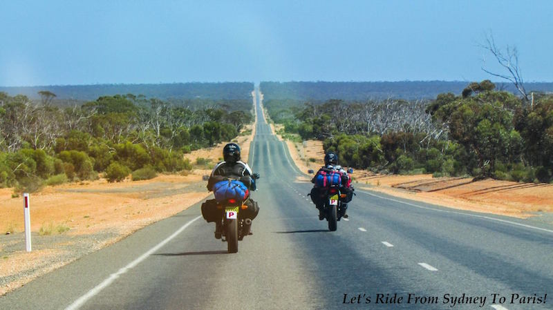 Let's Ride from Sydney to Paris - Long road