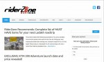Website RiderZone (riderzone.in) screenshot