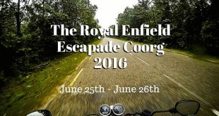 Royal Enfield Escapade Coorg 2016