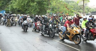 Leading 600 motorbikes rally at WMD 2016