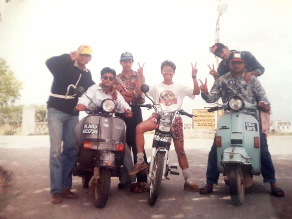 Ramaiah Chiranthana on a group ride around Bangalore
