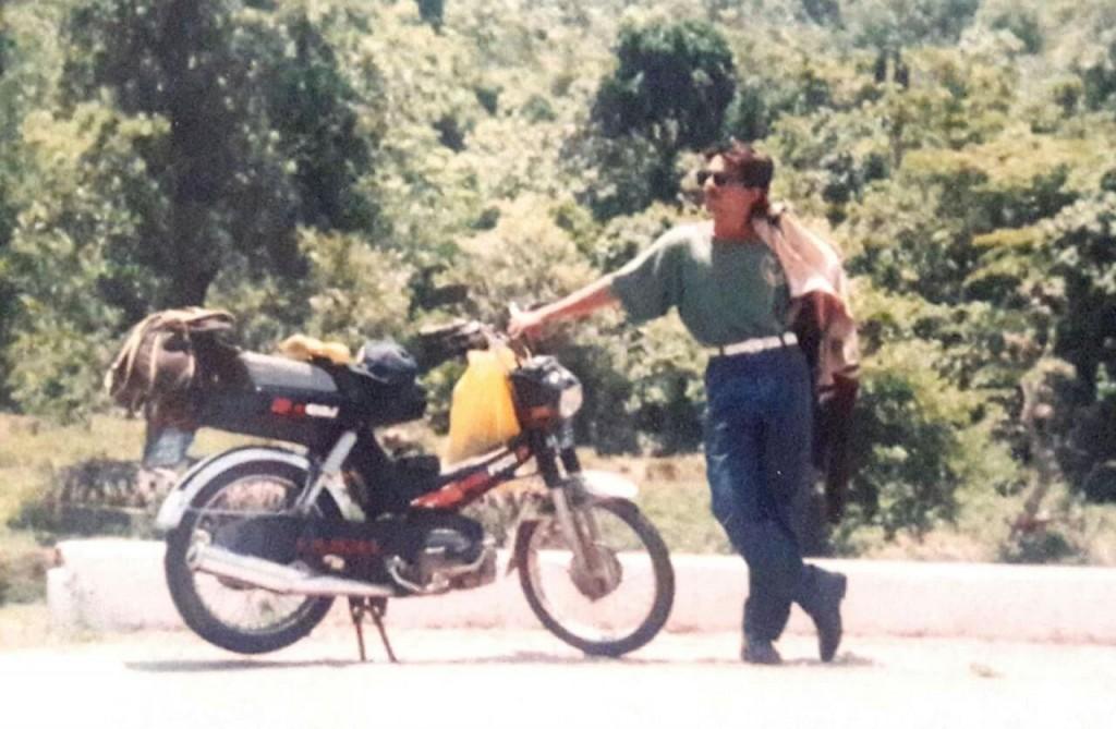 Ramaiah Chiranthana with his Hero Puch