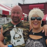 Kelly Morocco with friends at motorcycle event in August 2016