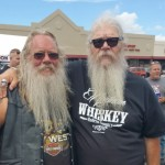 Hairy George with a friend at a motorcycle event in August 20th 2016