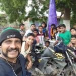Celebrating with the kids near Puri