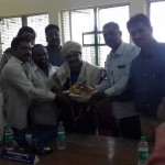 Felicitation by the Non Teaching Staff Association
