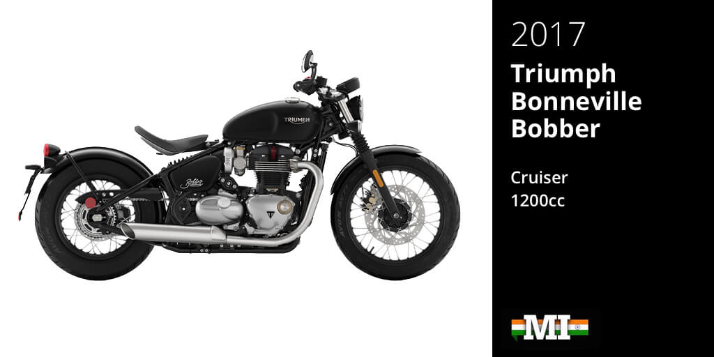 Upcoming Performance Bikes 2017: Triumph Bonneville Bobber