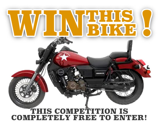 Win this bike. This competition is completely free to enter!