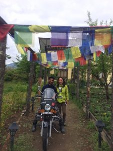 Nirvana lodge Lodge, paro, with karma mam,the lady biker