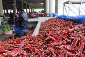 Red chilli at local thimphu market