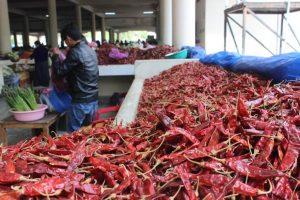 Red chilli at local thimphu market