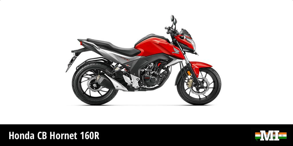 Honda CB Hornet 160R - best beginner motorcycle for women. It is also very lightweight.