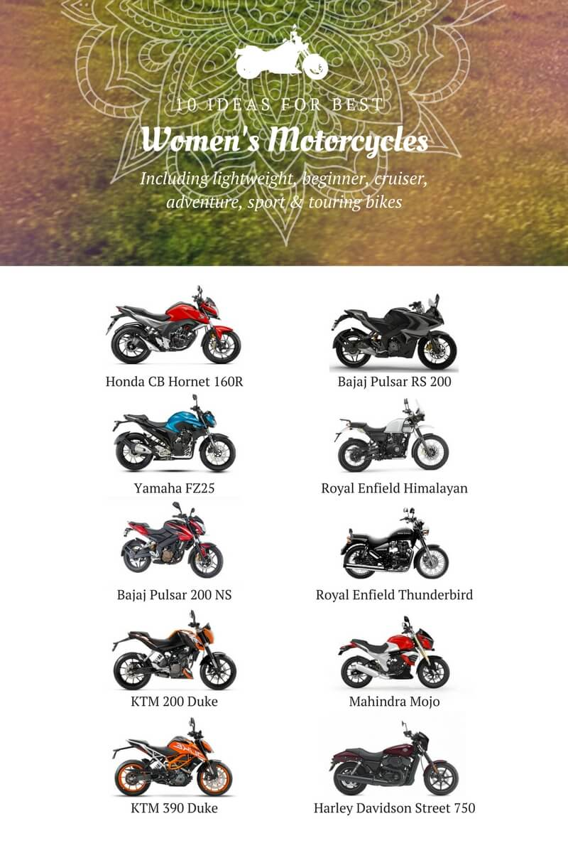 10 best womens motorcycles graphics