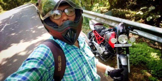 Shubham and his B3.1 motorcycle