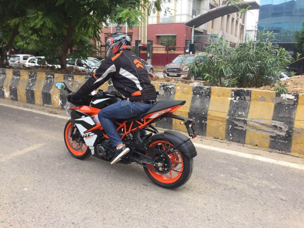 2017 KTM RC 390 Test Drive Review Rider seating position