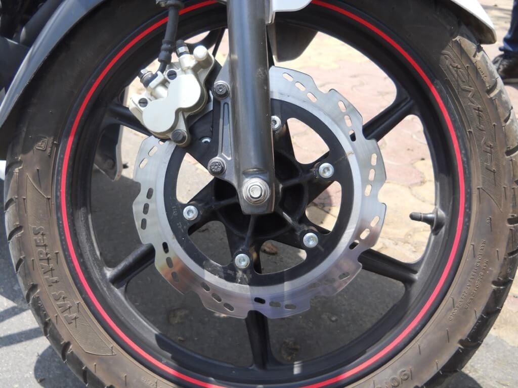 TVS Apache RTR 160 Front Breaks