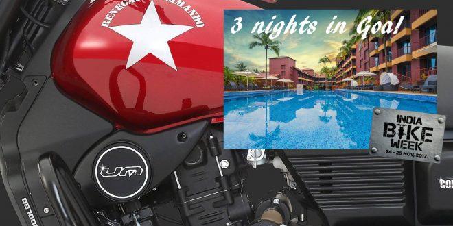 Win a UM Renegade plus three nights in Goa