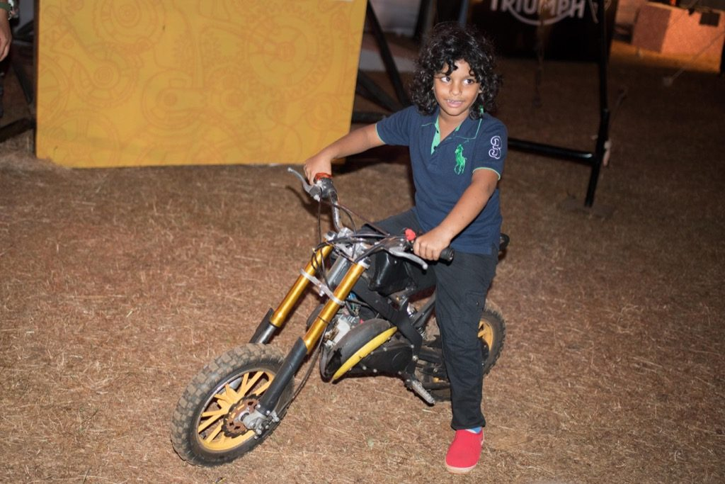 IBW 2017 Boy on a toy motorcycle