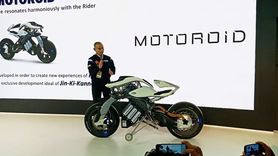 Yamaha Motoroid Concept Showcased at the Auto Expo 2018