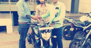 Our March Winner Varun Sharma with his new Yamaha FZS